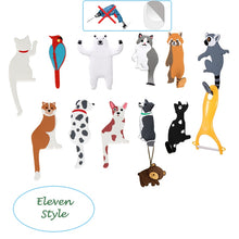 Load image into Gallery viewer, Cartoon Animal Family Decorative Hook Cat Dog Bear Bird Fridge Whiteboard Sticker Refrigerator Kids Gifts Home Decoration Hook