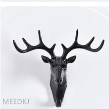 Load image into Gallery viewer, 1pcs antler shape home hook wall rack wall hanging creative wall personality deer head wall key holder