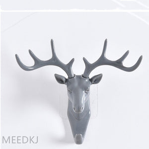 1pcs antler shape home hook wall rack wall hanging creative wall personality deer head wall key holder