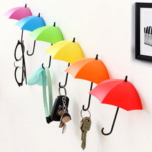 Load image into Gallery viewer, Non-marking punch-free umbrella hook self-adhesive hook wall door clothing hanger key debris hook bathroom kitchen sticky rack