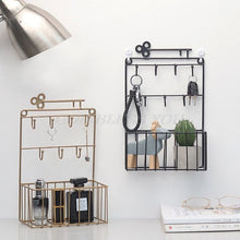 Load image into Gallery viewer, Wall Mounted Mail and Key Holder 7 Hook Rack Organizer Pocket and Letter Sorter for Entryway Kitchen Home Office Decor