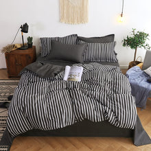 Load image into Gallery viewer, Nordic Duvet Cover Set Leaf Striped Star Bedding Set Single Double Queen King Size 240x220 Aloe Cotton Quilt Cover Bed Sheet