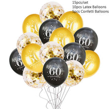 Load image into Gallery viewer, 30 40 50 60 Anniversary Balloons Happy Birthday Party Decor Adult Black Gold Balloon 30th 40th 50th Years Party Photobooth Props