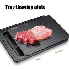 Load image into Gallery viewer, Fast Defrosting Tray with Cleaner Meat Defrost Food Thawing Plate Board Kitchen Tool