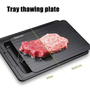 Fast Defrosting Tray with Cleaner Meat Defrost Food Thawing Plate Board Kitchen Tool