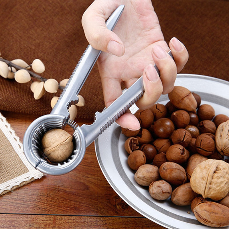 Zinc Alloy Nutcracker Sheller Crack almond Walnut Pecan Hazelnut Filbert Nut Kitchen Nut Sheller Clip Tool Clamp Plier Cracker