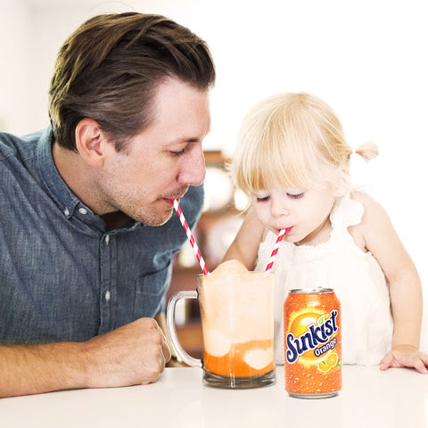 Enjoy Sunkist® Soda anytime or mix with ice cream for a delicious orange float