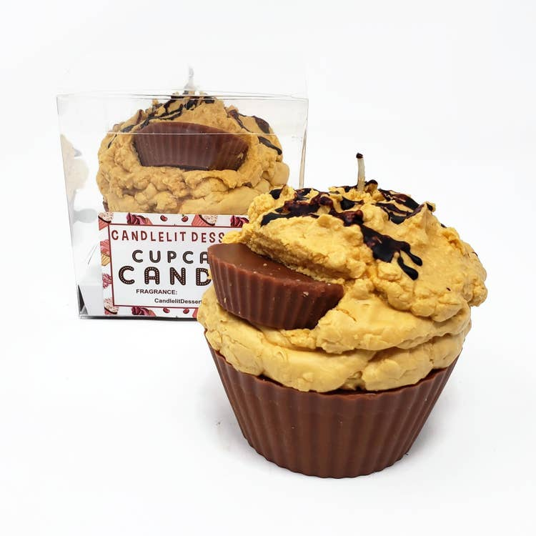 JUMBO CUPCAKE CANDLE - PEANUT BUTTER CUP