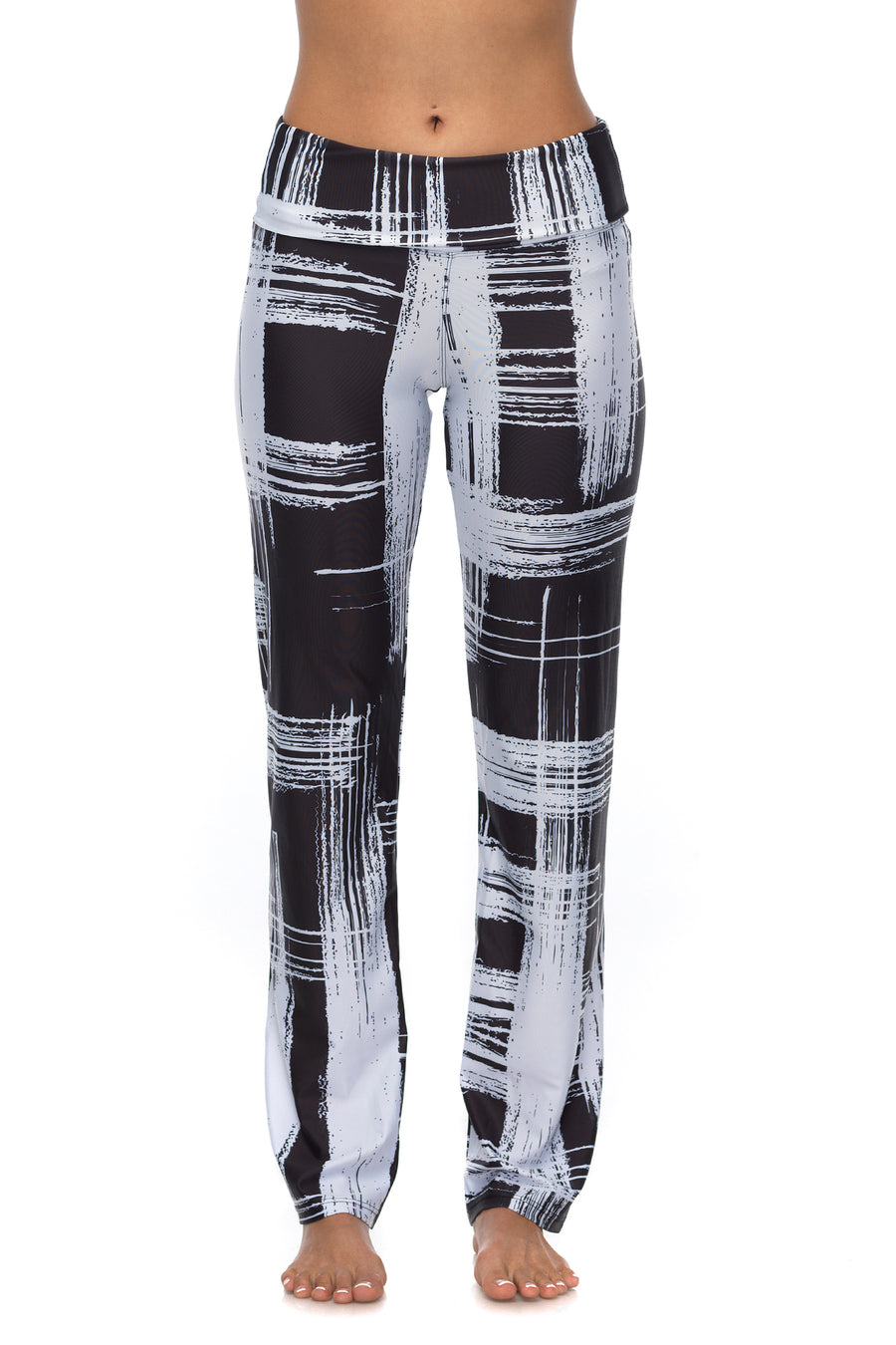 Kora Black & White Full Length Pant