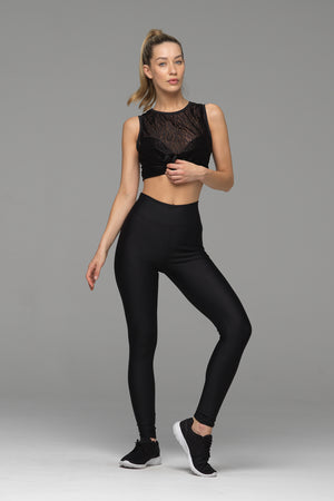 Billion Dollar Baby full length legging in solid black. High waisted, with a soft waistband for all day wear