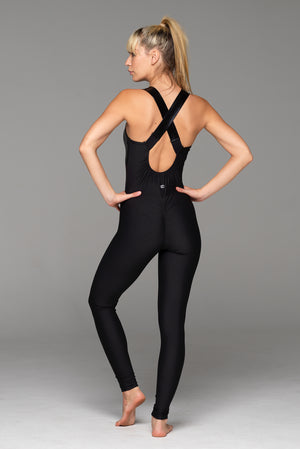 Booty call... the Nightcall Catsuit includes rouching across the bum for a beautiful sexy shape, while wide straps create back definition and stay in place.