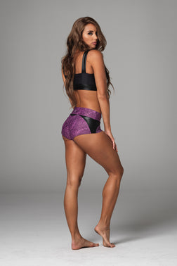 Baby Doll Hot Pant in Purple Pansy