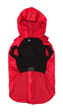 Lil Rocknhood Dog Jacket in Red Rascal
