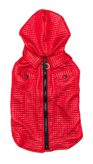 Red Dog Jacket | Lil Rocknhood Dog Coat | Active Creatures