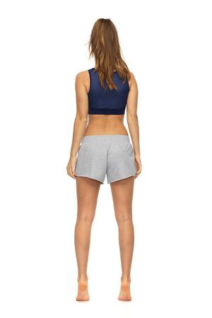 Braze sports short in grey marl - back