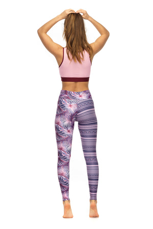 Barbarella Crop Top in pink women's active wear - back
