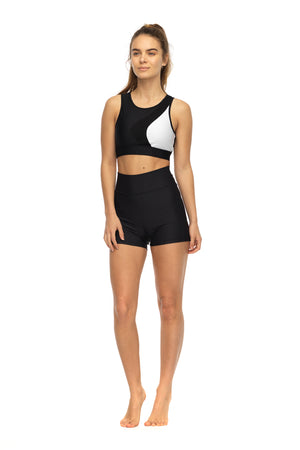 Black Derriere Shorts | Front Profile | High Waisted
