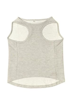 Balboa Muscle Tank in Grey - dog clothes - back