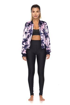 Starlett Crop Bomber Jacket in Pink