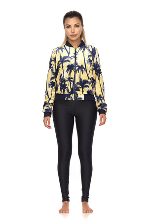 Starlett Crop Bomber Jacket in Yellow