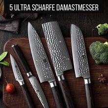 Lade das Bild in den Galerie-Viewer, Premium Messerblock - Damastmesser-Set (50% Rabatt)