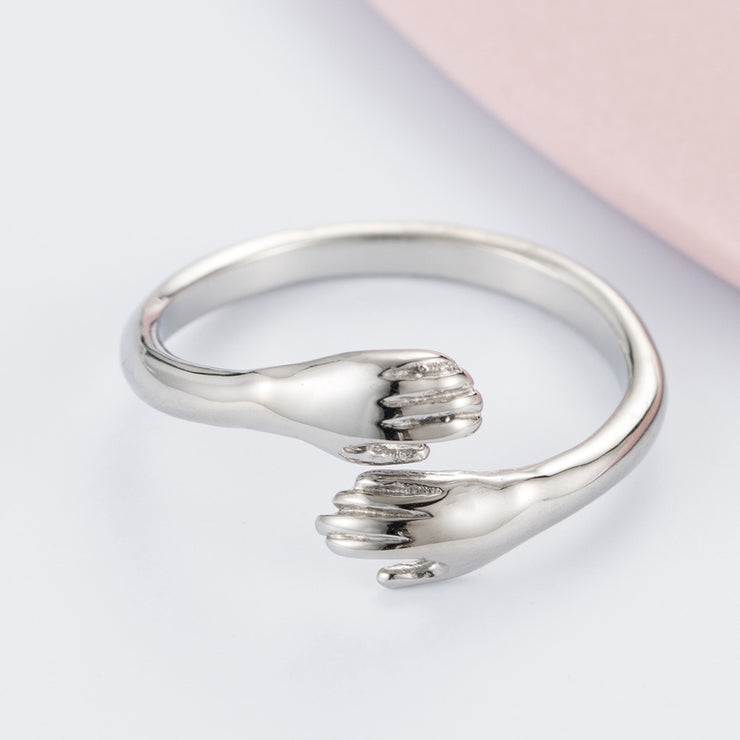 925 Sterling Silver Ring creative double arm ring