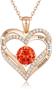 S925 Crystal Heart Women Necklace