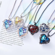Angel Wings Heart Shape Pendant Necklace