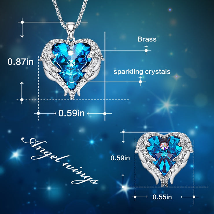 Angel Wings Heart Wedding Set