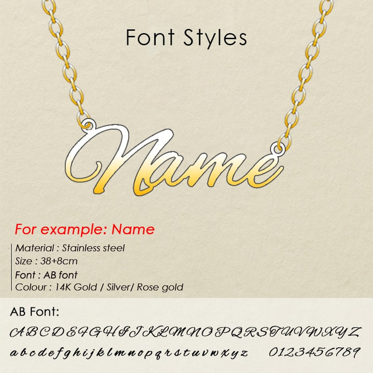 Customized Initial Name Personalized Letter Choker Necklace