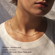 Layered 2 in 1 Chain Necklace