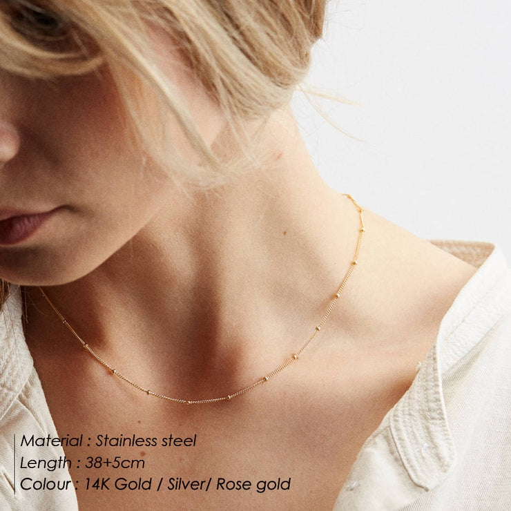 Necklace Women Minimalis 2 in 1
