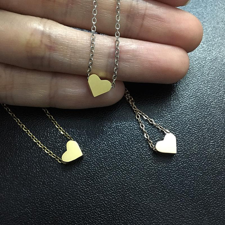 Heart Necklace and Classic Stainless Steel DIY Necklace
