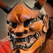 Hannya Mask Orange