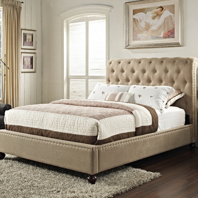 Standard Furniture Lorraine Tufted Sleigh Bed Free