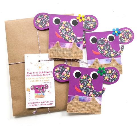 Elephant DIY Greeting Card Kit
