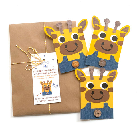 Giraffe DIY Greeting Card Kit