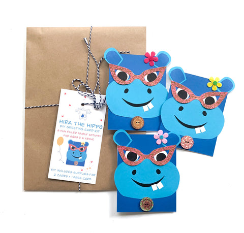 Hippo DIY Greeting Card Kit