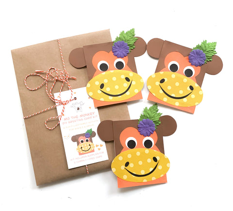 Monkey DIY Greeting Card Kit