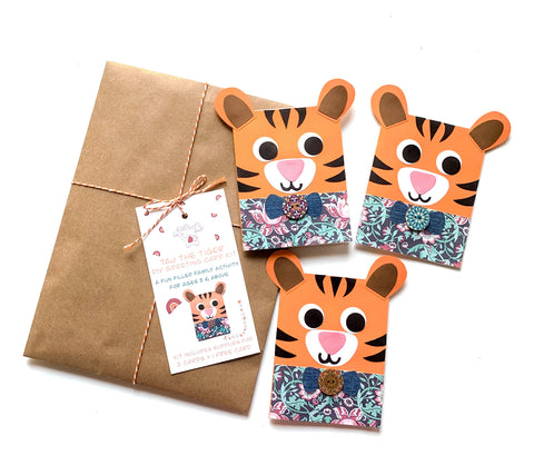 Tiger DIY Greeting Card Kit
