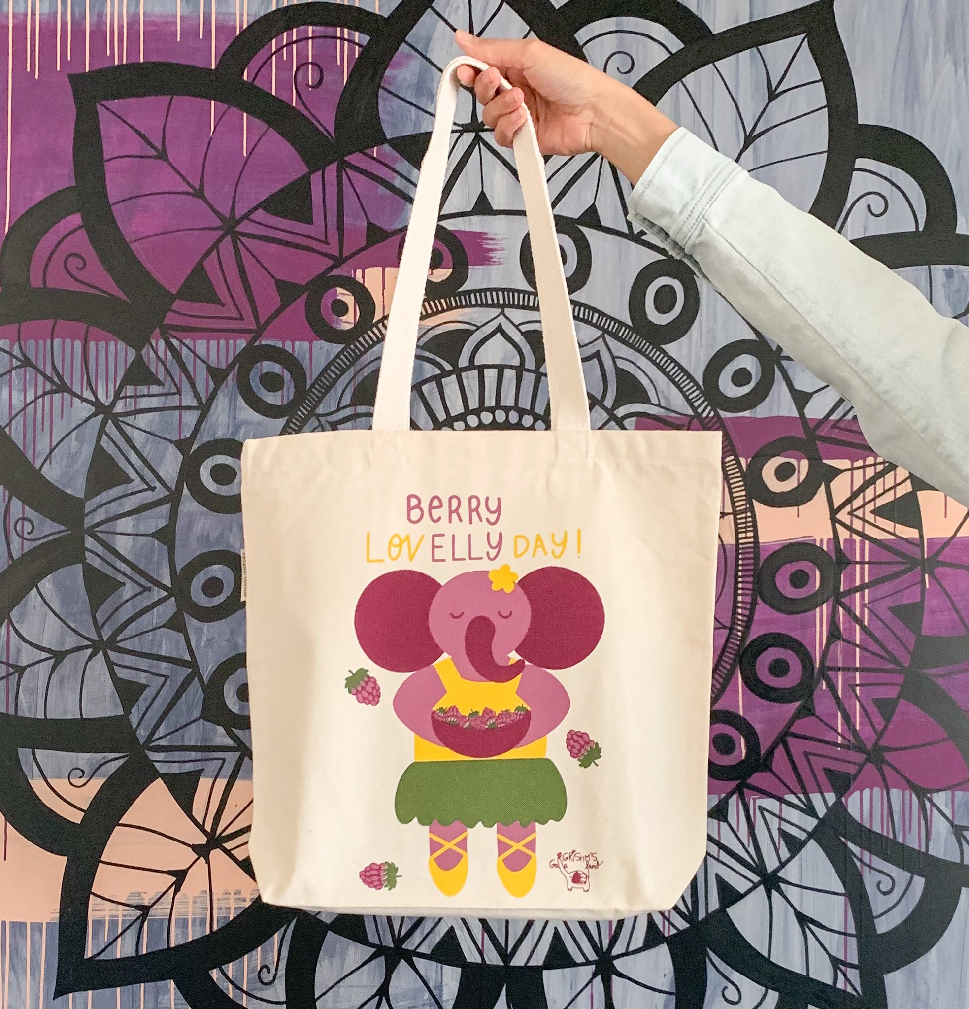 Elephant Tote Bag (Organic cotton)