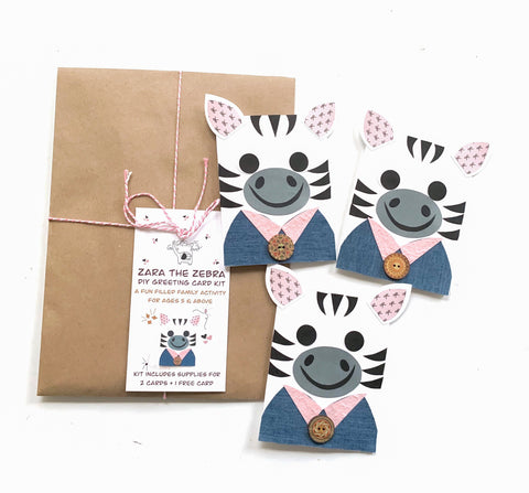 Zebra DIY Greeting Card Kit