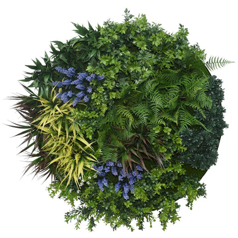UV Lavender Fields Green Wall Disc (Black) 80cm