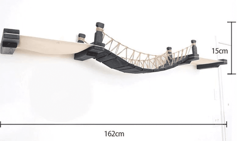 Tower Connect® Cat Rope Bridge Wall-mounted Cat Hammock