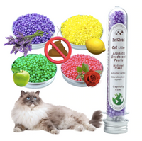 Fraganbest® 4 Aromatic Cat Litter Deodorant Beads Odor Activated Carbon Pet Excrement Stink Deodorizing Cleaning Supplies