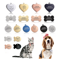 Tag Front® Cat Dog ID Tag Free Engraving Dog Collar Pet Charm Name Pendant Bone Necklace Accessory