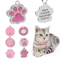 Kit Know® Custom ID Tag Personalized Cat Name Pendant Collar Engraved Kitten Nameplate Accessories