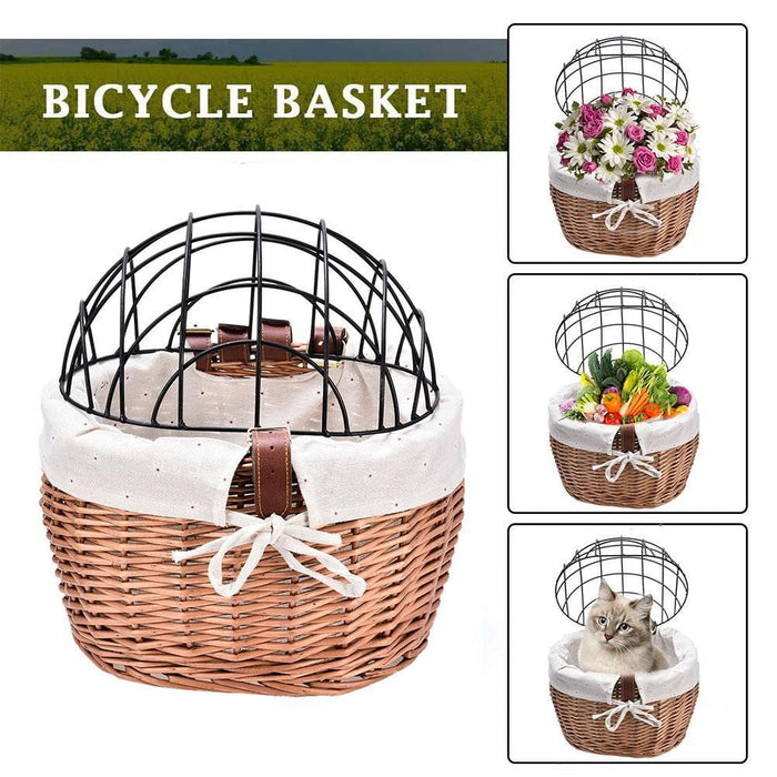 Daisy Crate® Fancy Cat Bicycle Basket