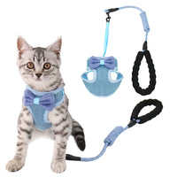 Bowish® Fashionable Bowknot Cat Harness and Leash Set