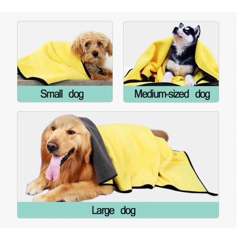 DryMost® Absorbent Bath Pet Towel